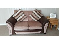 2 x 2 seater sofas and matching storage footstool. Pet free and smoke free house.