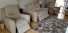 Power Recliner Settee and Arm chairs