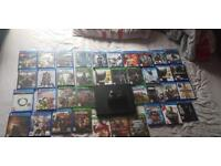 xbox X with 12 games + 26 playstation 4 games