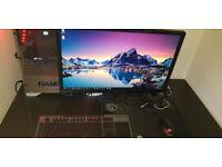 i7 7700K, GTX 1080, 16GB DDR4 RAM 144hz 1ms Monitor Full Gaming Setup