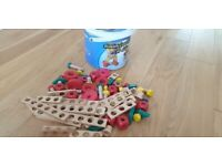 Wooden constructor tiy, Dutch made, Bought new and kept in pet and smoke free home