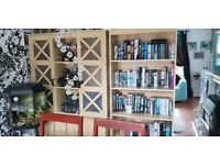 Matching solid wood 3 piece living room furniture bookshelf display unit tv/dvd unit