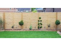 Contemporary Vogue Fence Panel 1.8M X 1.8M pack of 3