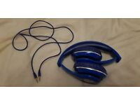 Set of cheap blue headsets for boys