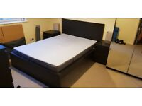 IKEA Malm double bed frame + mattress