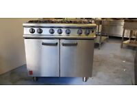 Falcon 6 Burner Gas Oven + Gas Pipe and Valves