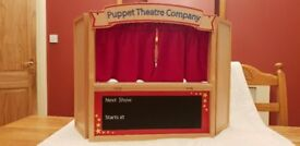 Puppet Theatre and selection of hand and finger puppets