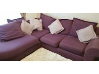 Fabulous fabric corner sofa.