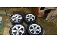 Audi a4 17 inch alloy wheels with Michelin tyres