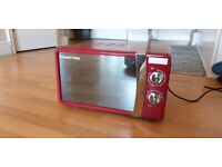 Russell Hobbs 17 Litre Flame Red Manual Microwave - Lightly Used