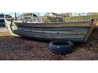 16ft Fiberglass fishing boat.