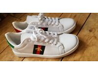 1b31ee2b1fb White Gucci Ace shoes size 8 mens.