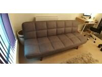 Clic Clac Sofa Bed Grey (Excellent Condition)