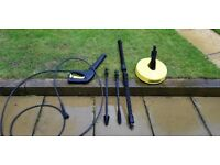 Karcher pressure washer accessories only - GUN, PATIO CLEANER, 2X LANCES AND EXTENSION