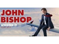 2 Stalls Tickets for John Bishop Winging It at The Brighton Centre - Wednesday 25th October 2017