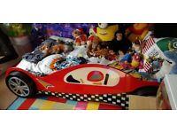 KIDS SINGLE RACE CAR BED