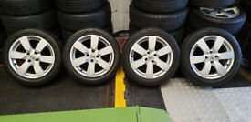 Nissan Genuine 16 alloy wheels + 4 x tyres 185 55 16