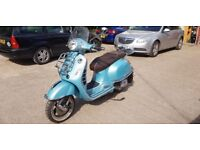 Vespa GTS 125 70th Anniversary ltd edition, 1 lady owner lots of extras