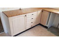 Kitchen unit and worktop
