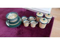 Kitchen Set, Plates, Bowls, Jars Excellent Condition
