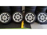 Volvo Genuine 17 alloy wheels + 4 x tyres 205 50 17