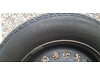Pirelli snow control tyres on steel rims