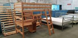Excellent condition high sleeper with built in desk underneatg