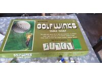Old vintage collectible board game golf winks
