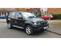 Black BMW X5 3.0 Automatic, Great condition in and out! LONG MOT