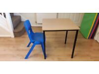 Small Square Child's Desk/Table with Child's Chair