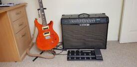 PRS Guitar, Line 6 Spider IV 150 plus FBV Shortboard MK11
