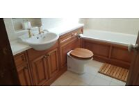 SLASHED: Bathroom Suite (Solid Oak) & Accessories