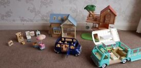 Large Sylvanian Families Toy Collection