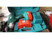 Neilson 24v impact wrench gun cordless in carry case and two batteries
