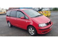 SEAT ALHAMBRA AUTOMATIC RUNS AND DRIVES NO MOT, BARGAIN CLEARENCE