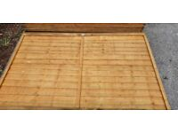 Fence Panels - 21 Traditional Larch Lap 183 x 120 cm, 21 in total, can split.
