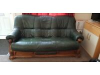 3 seater, 2 seater and sofa chair