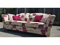 Beautiful fabric floral 4 seater sofa RRP £1200. FREE delivery in Derby