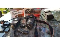 Canon 100D with 70-300mm lens speedflash, remote