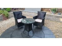 Rattan Garden Furniture - Table and Chairs