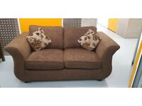 Brown Sofa Bed with matching cushions
