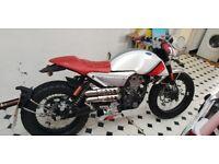 MONDIAL HPS WHITE&RED 125CC MOTORBIKE