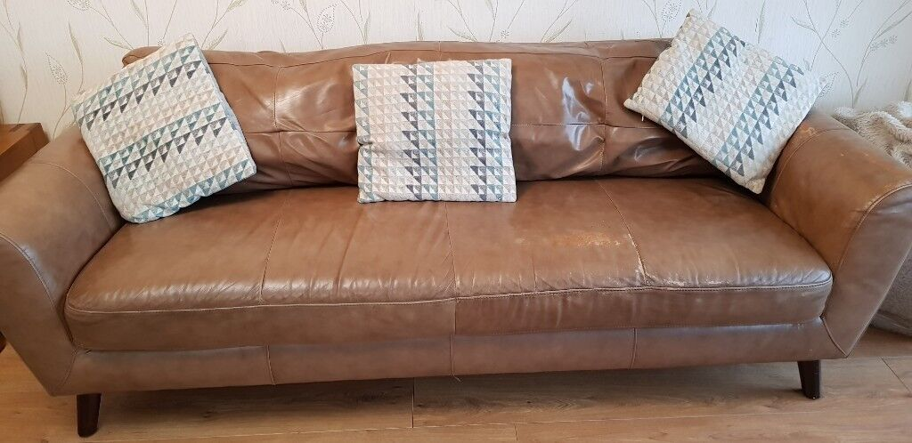 Light Brown Leather Sofa 3 Seater And 2x2