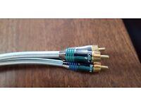 QED Qunex PC-V C 3m component cable + 1m QED Qontour cable as new