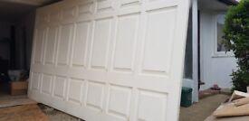 Used fiber glass double garage door