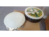 Tambourine and drum for sale