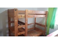 Children wood bed (two floors) with study desk