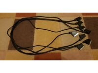 SCART Lead Cable (x2) TV Dvd FULLY WIRED 21 Pin 1.2m Long (AWM2462 Shi