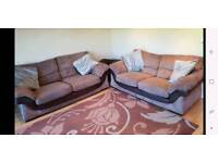 3 seater and 2 seater sofa pair