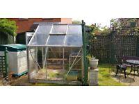 Glass Greenhouse 6' x 6'